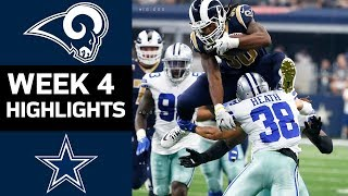 Rams vs. Cowboys | NFL Week 4 Game Highlights