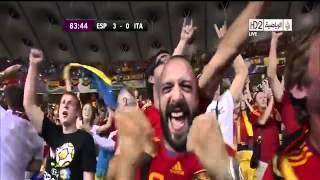 اهداف اسبانيا 4 - 0 ايطاليا نهائي يورو 2012 رؤوف خليف [HD]