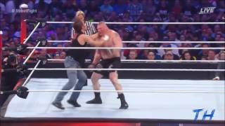 Dean Ambrose vs Brock Lesnar Highlights HD Wrestlemania 32