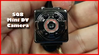 SQ8 Mini DV Camera 1080P Full HD Car DVR Review with Samples