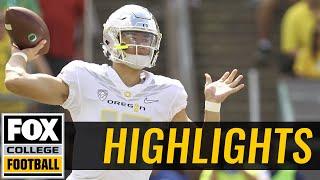 Nebraska vs Oregon | Highlights | FOX COLLEGE FOOTBALL