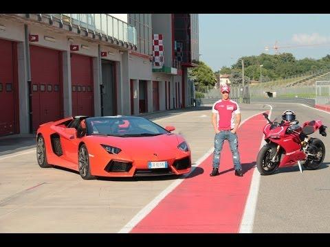 Dovizioso Lamborghini Aventador Ducati 1199 Panigale R Automoto.it
