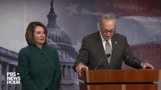 WATCH: Sen. Schumer, Rep. Pelosi discuss omnibus spending bill