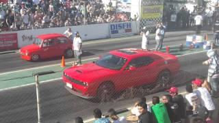 Dodge challenger es derrotado por Fiat 600 en picadas de Lavalle