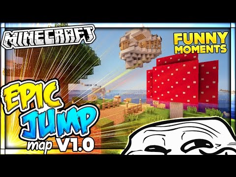 THE BEST PARKOUR MAP EVER CREATED & TROLLING Minecraft Epic Jump Map v1.0 Funny Moments