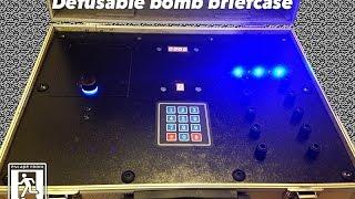Defusable bomb briefcase - escape room prop