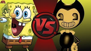 SpongeBob vs Bendy and the Ink Machine! Cartoon Fight Night Episode 62!