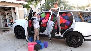 CRAZY FOAM PIT IN CAR SCARE PRANK! (Girlfriend on brother)