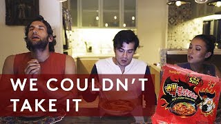 2X NUCLEAR SPICY KOREAN FIRE NOODLE CHALLENGE (ft. Solenn Heussaff and Nico Bolzico)