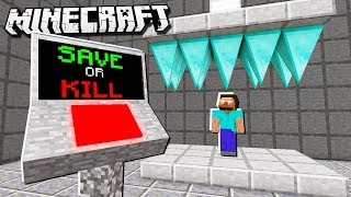 KILL OR SAVE Herobrine BUTTON in Minecraft!