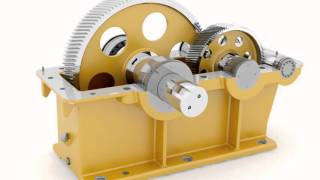 Gearbox CAD model animated