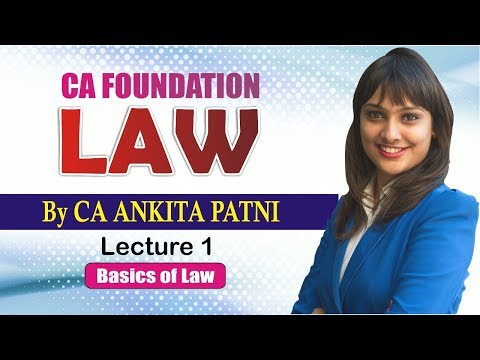 Xxx Mp4 CA Foundation Law By CA Ankita Patni Lecture 1 3gp Sex