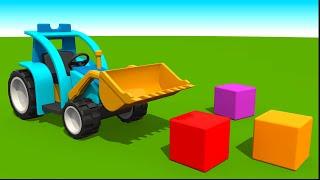 Tractores infantiles - Colores en español - Leo la Troca Curiosa