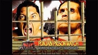 Batista vs The Great Khali l No Mercy 2007 l Punjabi Prison l Combates WWE