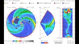 CME Tracking, Quake Watch, Cosmic Rays   S0 News July.24.2017