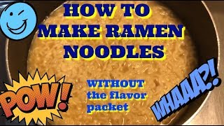 How To Make Ramen Noodles with No Flavor Packet (184)