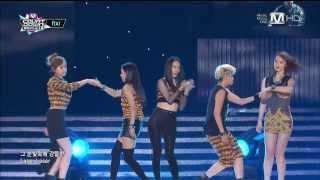 [130829] F(x) - Electric Shock ( KCON L.A 2013 ) @ Mnet M!Countdown