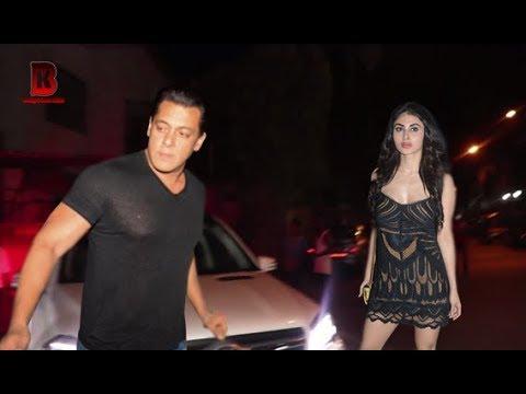 Salman Khan & Mouni Roy Arrive At Mukesh Chhabra Birthday Party