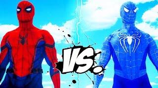 The Amazing Blue Spiderman vs Spider-Man (Civil War)