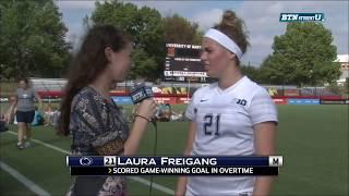 Laura Freigang Talks OT Soccer Win