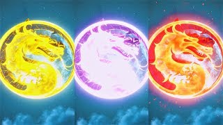 INJUSTICE 2 - ALL Raiden God & Demon Shaders Lightning MK DRAGON Color Super Moves