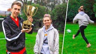 FOOTBALL CHALLENGES VS MY GIRLFRIEND