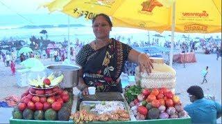Street Foods Of India | Lanka Pakoda (Green Chili Fry), Bhel Puri, Raw Mango Of RK Beach, Vizag, AP