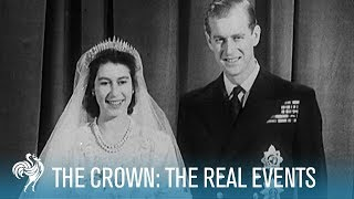 The Crown Season 1: Rise of the Queen to Churchill's Resignation | British Pathé