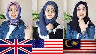 Farklı Ülkelerin Değişik Baş Bağlama Stilleri | Hijab Tutorials