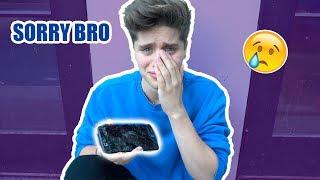 I BROKE MY BROTHER'S PHONE (he cried)