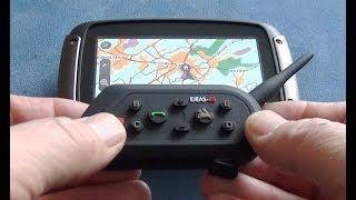 Motorrad Headset MP3 GPS Radio 6 Riders Waterproof Bluetooth Motorcycle Helmet Intercom Interphone
