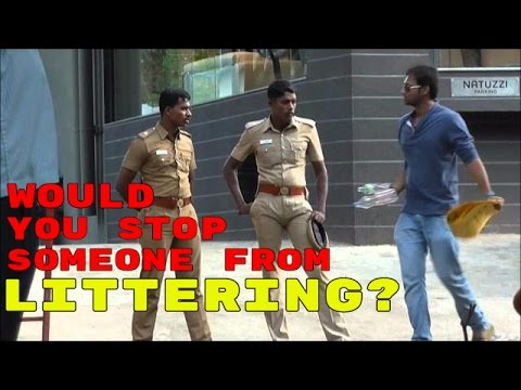 SOCIAL EXPERIMENT | Would You Stop Someone From Littering? Awkwardness Unlimited