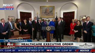FNN: Trump Signs Executive Order on Health Care After Failure to Repeal Obamacare
