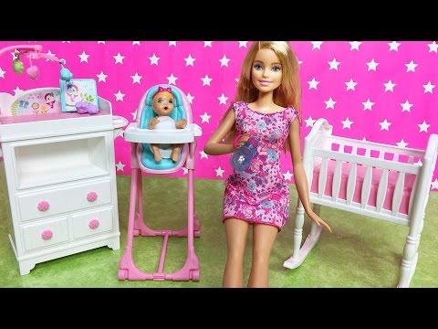 YEPYENİ Barbie Bebek Bakma Oyuncak Seti | Bebek Bakma Oyunu | EvcilikTV