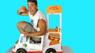 Tacos & Burgers Motorized Ride On Food Truck ! || Toy Review || Konas2002