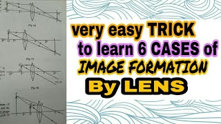 Best Trick ever to Learn 6 Cases of IMAGE Formation By Lenses in Just 3 min only!!