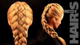 How to do a five-strand French braid hairstyle - video tutorial (How-to) Hair's How