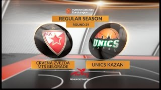 Highlights: Crvena Zvezda mts Belgrade-Unics Kazan