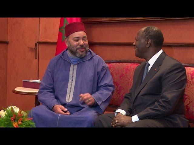 Arrivée du Roi Mohammed VI en Côte d'Ivoire