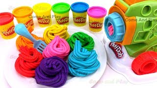 Learn Colors with Play Doh Pasta Machine Making Spaghetti and Surprise Toys