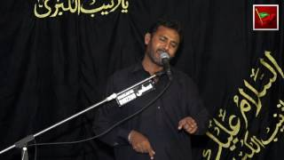 Zakir Safdar Abbas Notak 24 Muharram 2016 Majlis e Aza O Jaloos e Taboot Bemar e Karbala AS