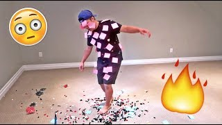 IMPOSSIBLE STICKY NOTE CHALLENGE!!! (FIRST ONE TO CRY LOSES)
