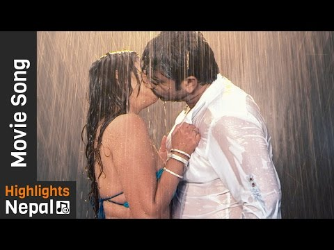 Bhojpuri Movie Dilwale Hot Sexy Kiss   Bhojpuri song - रिम झिम पानी परे   Ma Radhika International