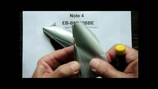 Galaxy Note 4 fake battery versus my original
