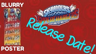 RELEASE DATE for Skylanders Superchargers!! Blurry POSTER! 20 Characters & 20 Vehicles