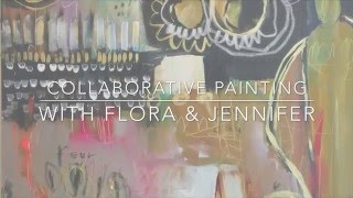 Studio Diaries: Collaborative Painting with Flora Bowley + Jennifer Mercede