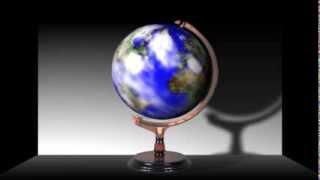 「回転する地球儀」aftereffectsで作成