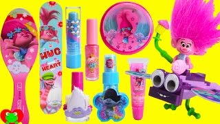 Trolls Poppy GIANT Cosmetics Kre-O Like Legos Set and Surprises