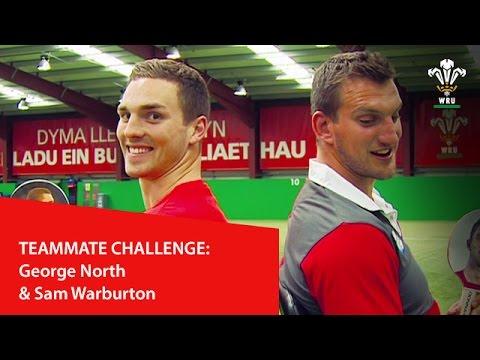 Teammate challenge: George North & Sam Warburton   WRU TV