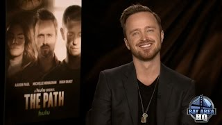 """FUN AARON PAUL INTERVIEW! On Sex Scenes, """"The Path,"""" Better Call Saul, Crying, Whiskey & Minka Kelly"""